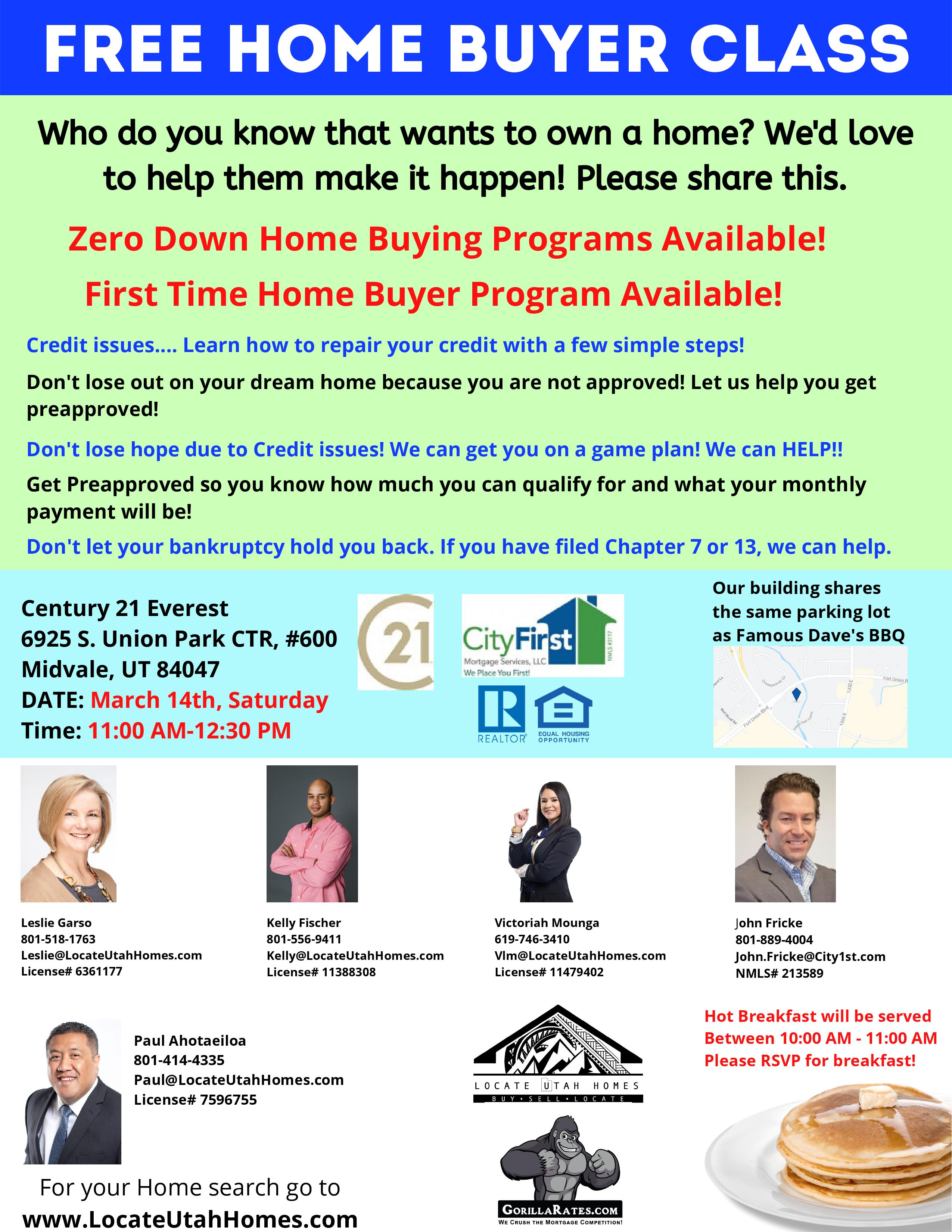 Home Buyer Seminar Flyer